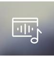 Radio retro thin line icon vector image