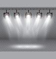 scene illumination effects with spotlights on vector image vector image