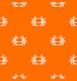 seafood crab pattern seamless vector image