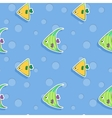 seamless sea pattern with smiling vector image