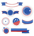 set independence day design elements with vector image
