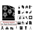 Set of 24 Housing repairs Icons vector image