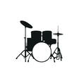 silhouette the drum set vector image