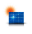 solar electric panel produce electricity color vector image