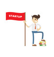 startup business project icon with businessman vector image vector image