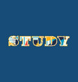 study concept word art vector image vector image