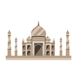 Taj Mahal flat style Ancient Palace in India vector image