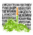 the concept of a healthy lifestyle vector image vector image