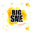 the yellow sun with big sale text isolated on vector image vector image