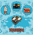 tourism flat concept icons vector image vector image