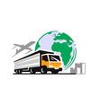 transport truck emblem logistic delivery vector image