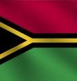 Vanuatu flag vector image vector image