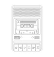 vintage audio tape recorder vector image
