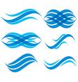 Wave symbols set vector image vector image