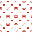 wc icons pattern seamless white background vector image vector image