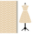 women dress fabric with yellow pattern vector image