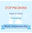 world pneumonia day vector image