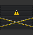 yellow lines with under construction text on vector image