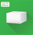 blank white carton 3d box icon business concept vector image