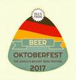 oktoberfest beer festival vector image