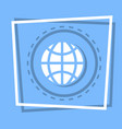 world globe icon earth planet concept vector image