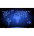 neon world map vector image