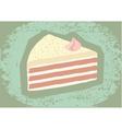 retro grunge cake vector image