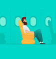 airplane passenger vector image