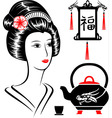 Asian set vector image vector image