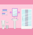 bathroom interior room with shower cabin sink