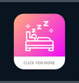 bed bedroom clean cleaning mobile app button vector image