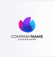bright colors logo template concept vector image vector image