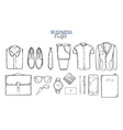 Business Clothing Sketch Set vector image vector image
