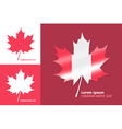 canadian maple leaf symbol vector image vector image