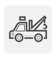 car tow truck vector image