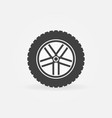 car wheel symbol or icon vector image vector image