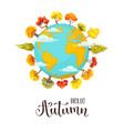 cartoon autumn trees illusrtation vector image vector image