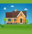 cartoon residential townhouse vector image vector image