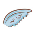 cartoon wings feather angel cartoon vector image vector image