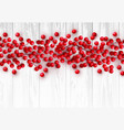 christmas red holly berry on white wooden vector image vector image