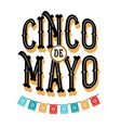 cinco de mayo poster design with flags vector image vector image