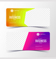 colorful abstract business banner template vector image vector image