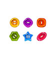 colorful jelly glossy buttons for game or web vector image