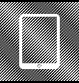 computer tablet sign icon hole in moire vector image