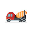 concrete mixer truck equipment using in vector image vector image