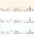 denver hand drawn skyline vector image vector image