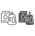 detergent line and glyph icon laundry and wash vector image vector image