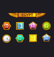 egypt precious and multi-colored stones game vector image vector image