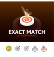 Exact match icon in different style vector image