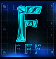 f letter capital digit roentgen x-ray vector image